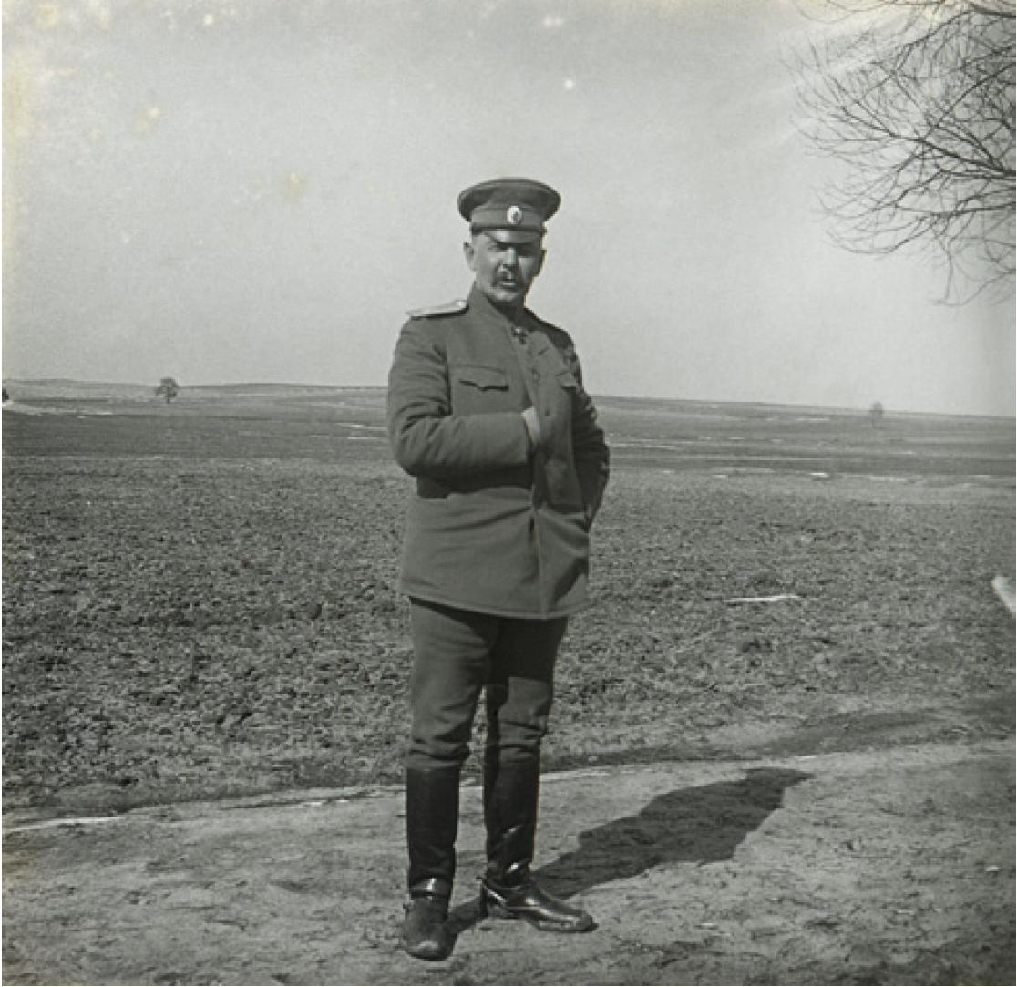05. 1914. Начальник 46-ой пехотной дивизии Д.А. Долгов. Польша