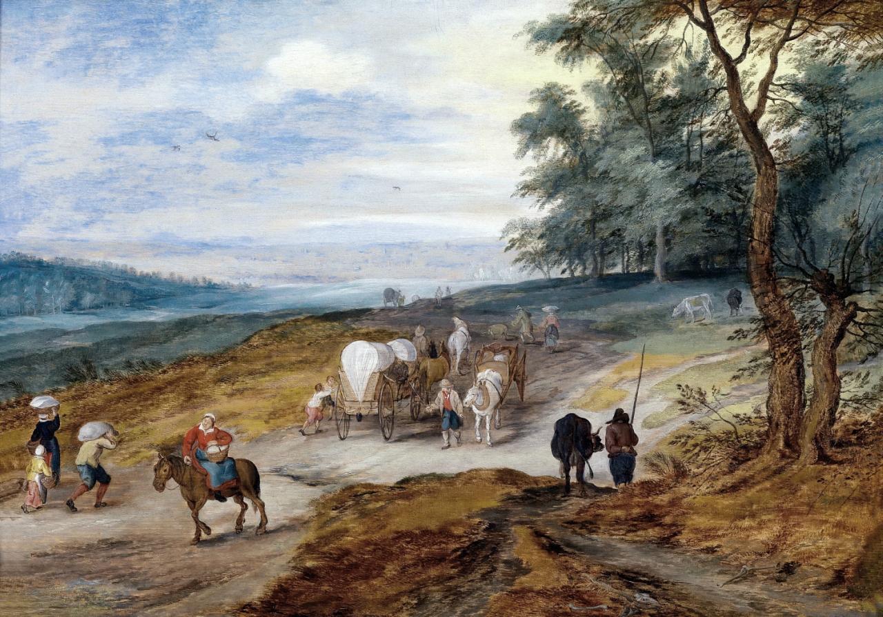 UNA - 0196 -- Jan Brueghel II the Younger - Пейзаж с путниками (частная коллекция).jpg