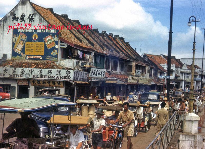 1940s Java Old Batavia Djakarta Street Scene.JPG
