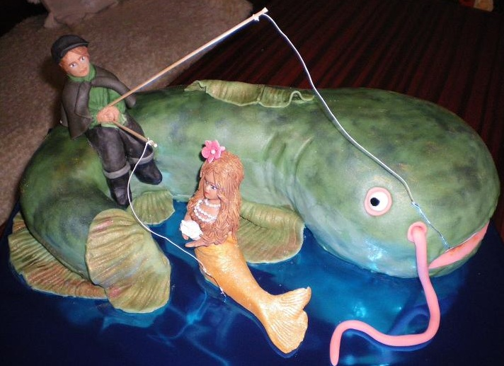 Рыба сом из марципана