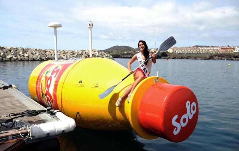 Ringnes, самая большая бутылка в океане