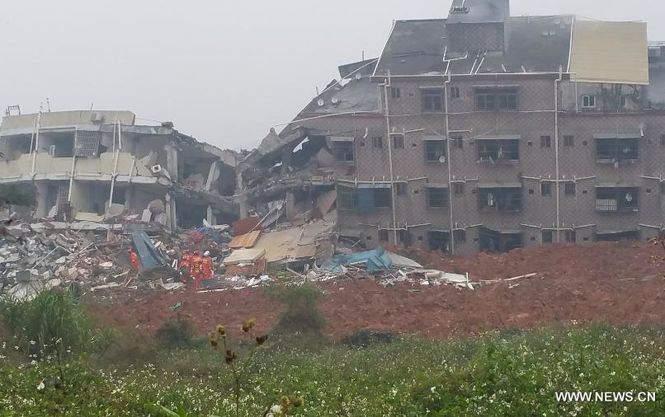 Оползень в Китае 91 человек пропал без вести