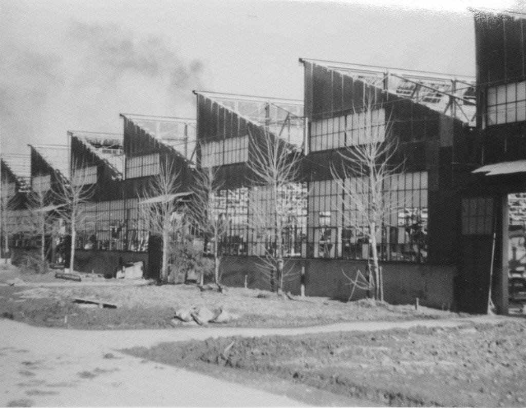 Bomb damaged buildings, Jan 1, 1946