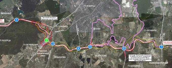 Строительство автомобильной дороги от Лыткарино до города Железнодорожный