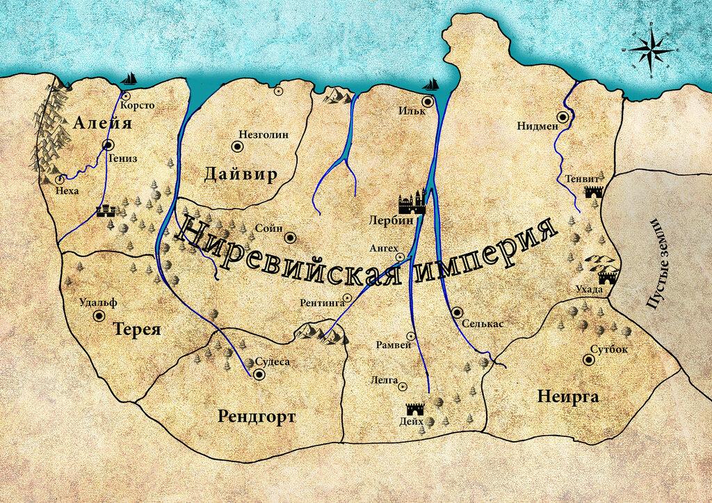 Карта Ниревии