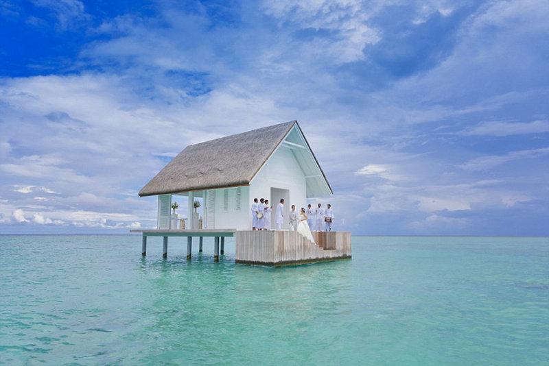 Свадьба посреди океана на Мальдивах! (6 фото)