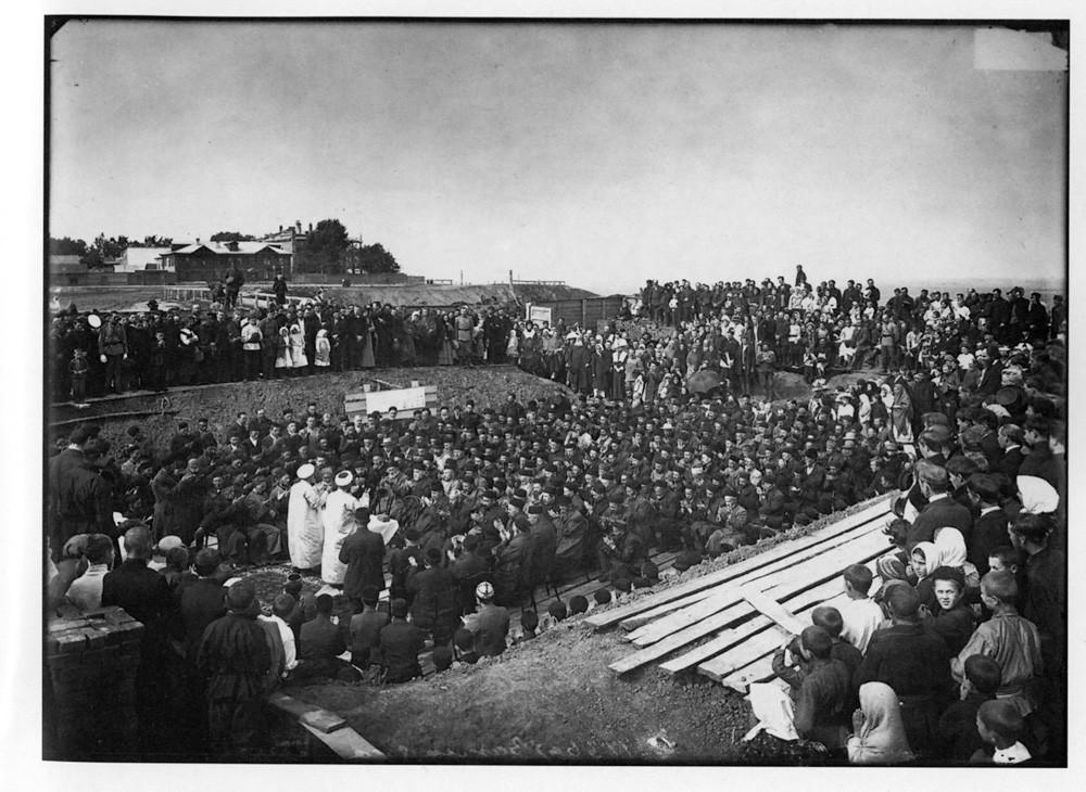 Закладка городской соборной мечети в Нижнем Новгороде. 1902 г. Негатив 18 ? 24 см.