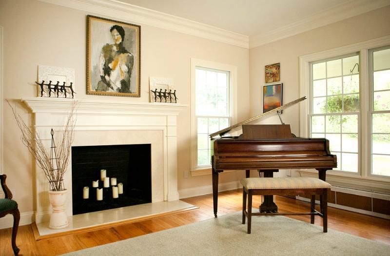 Пианино и рояль в дизайне интерьера фото 20