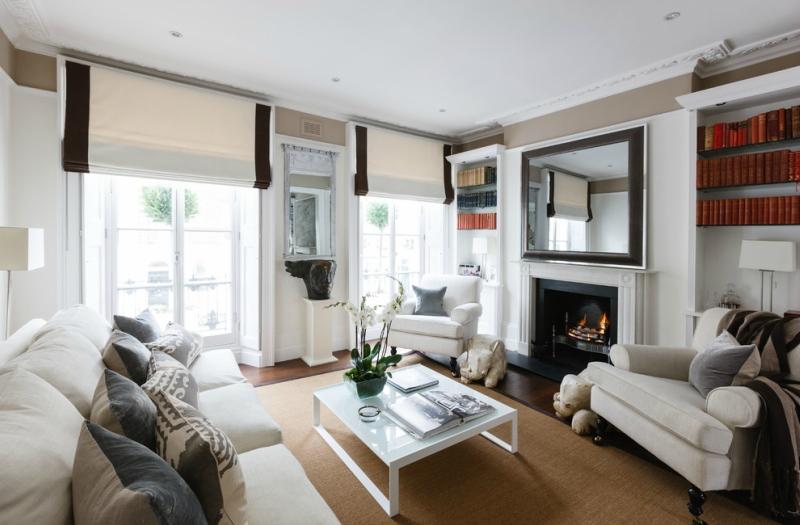 Дизайн интерьера гостиной в светлых оттенках фото 7