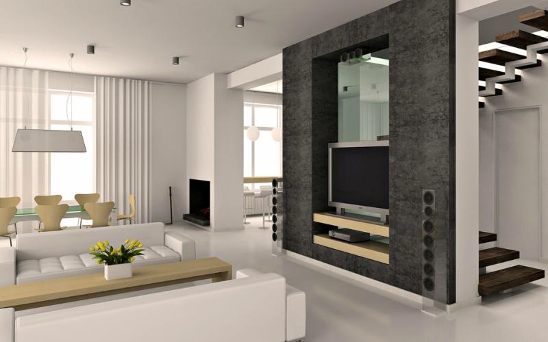 Дизайн интерьера гостиной в светлых оттенках фото 17