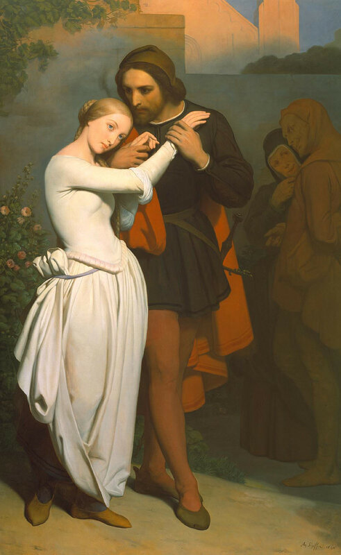 Faust and Marguerite in the Garden by Ary Scheffer, 1846