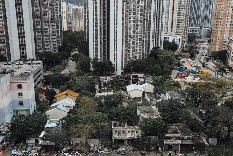 A view of Nga Tsin Wai village, which is to be demolished as part of a city re-urbanization plan in