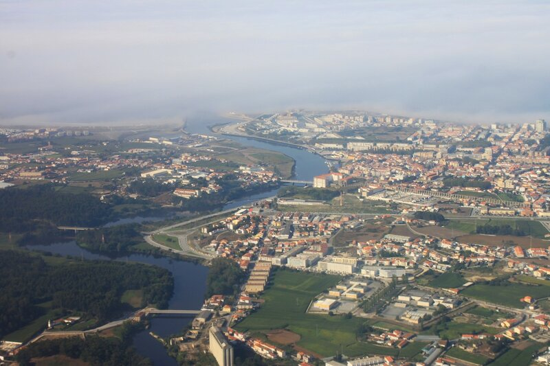 Порту с самолета (Porto view from the airplane)