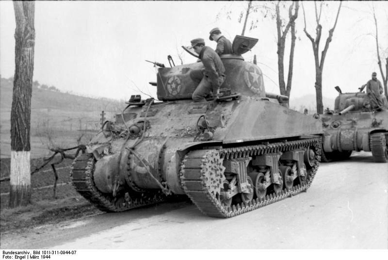 Italien, erbeutete amerikanische Panzer