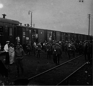 03. 1914. Отправка санитарного поезда на фронт. Рыбинск
