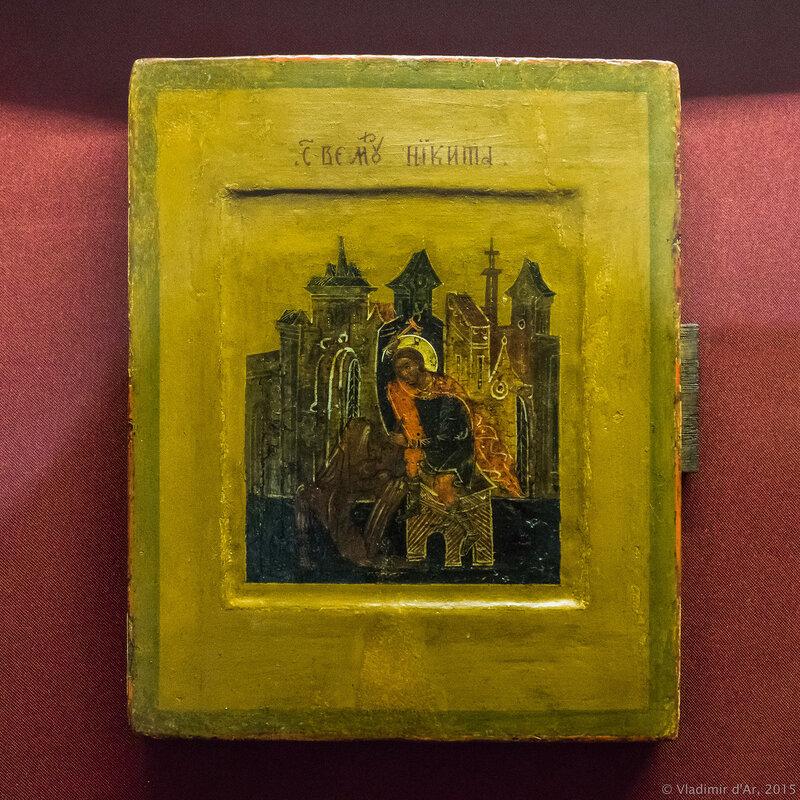 Икона Великомученик Никита. Россия. Палех. XIX в.