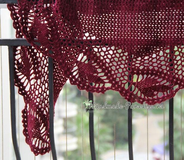 Вязание крючком. Ажурная шаль