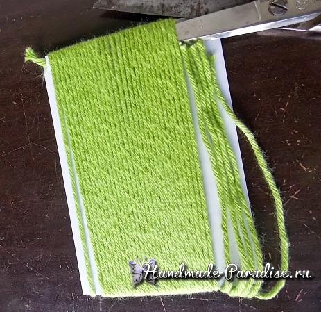 Как сделать бахрому для вязаной накидки