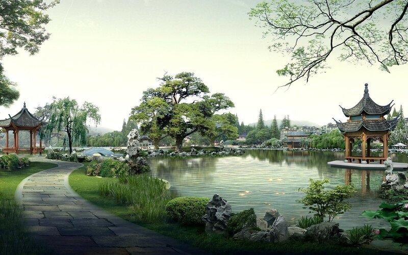 Красивые китайские пейзажи. Фотографии природы Китая, похожей на картины 0 1c4d46 8b5162c7 XL