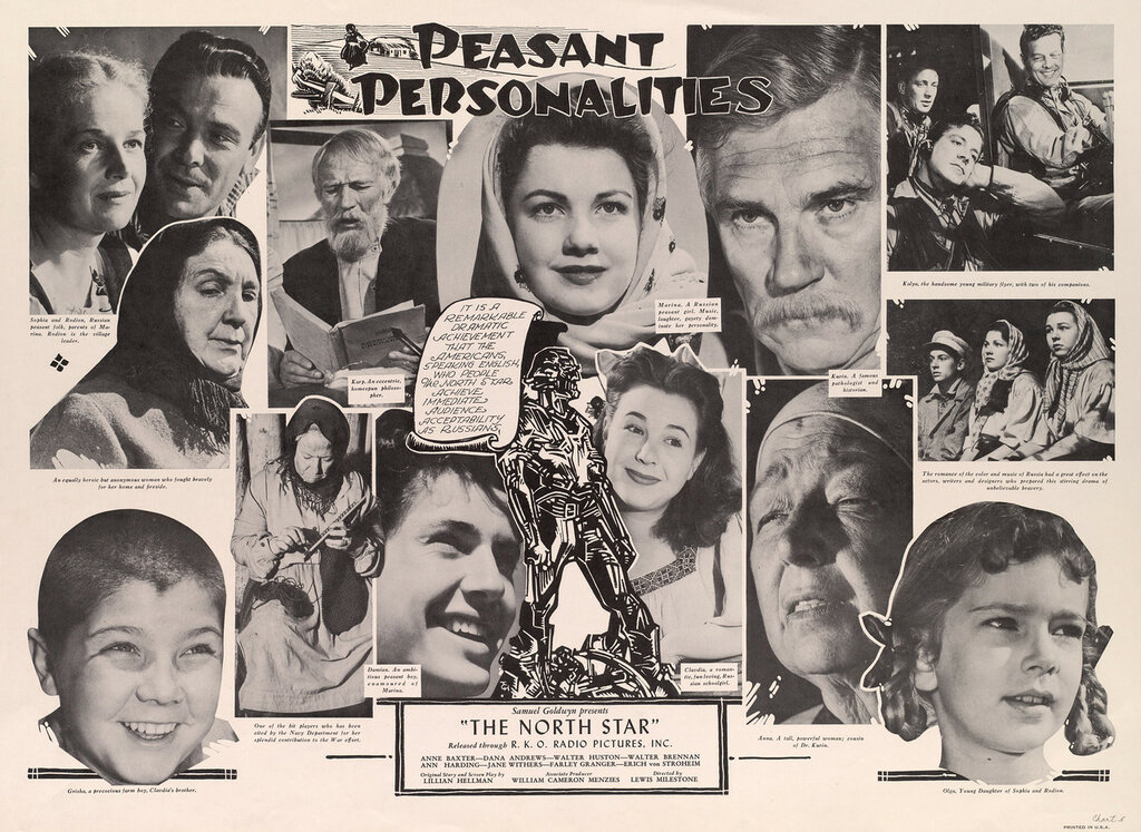 """Peasant personalities : Samuel Goldwyn presents : """"The North star"""" : released through : R. K. O. Radio Pictures, Inc."""