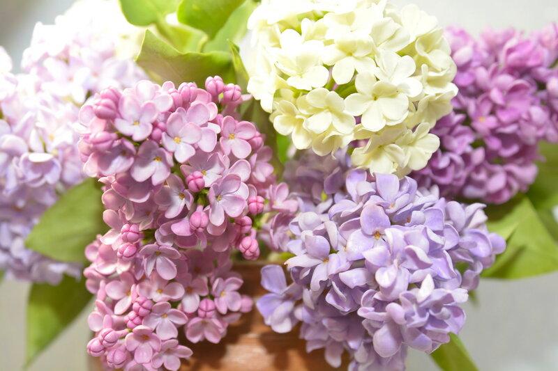 """Букет сирени """" Spring time """" из полимерной глины"""