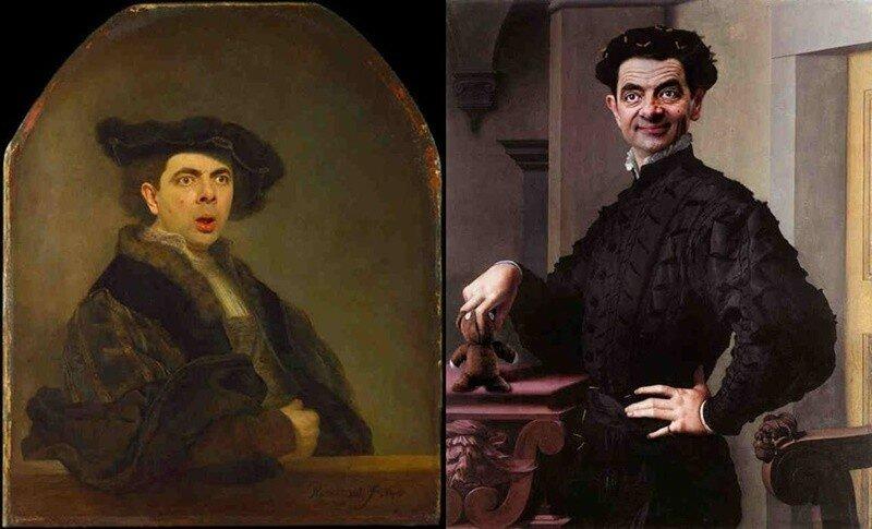 Родни Пайк: смешные «старинные» портреты с комиком Мистером Бином