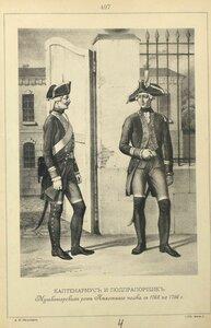 497. КАПТЕНАРМУС и ПОДПРАПОРЩИК Мушкетерских рот Пехотного полка с 1763 по 1786 г.