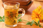 Healing herbal tea for winter time