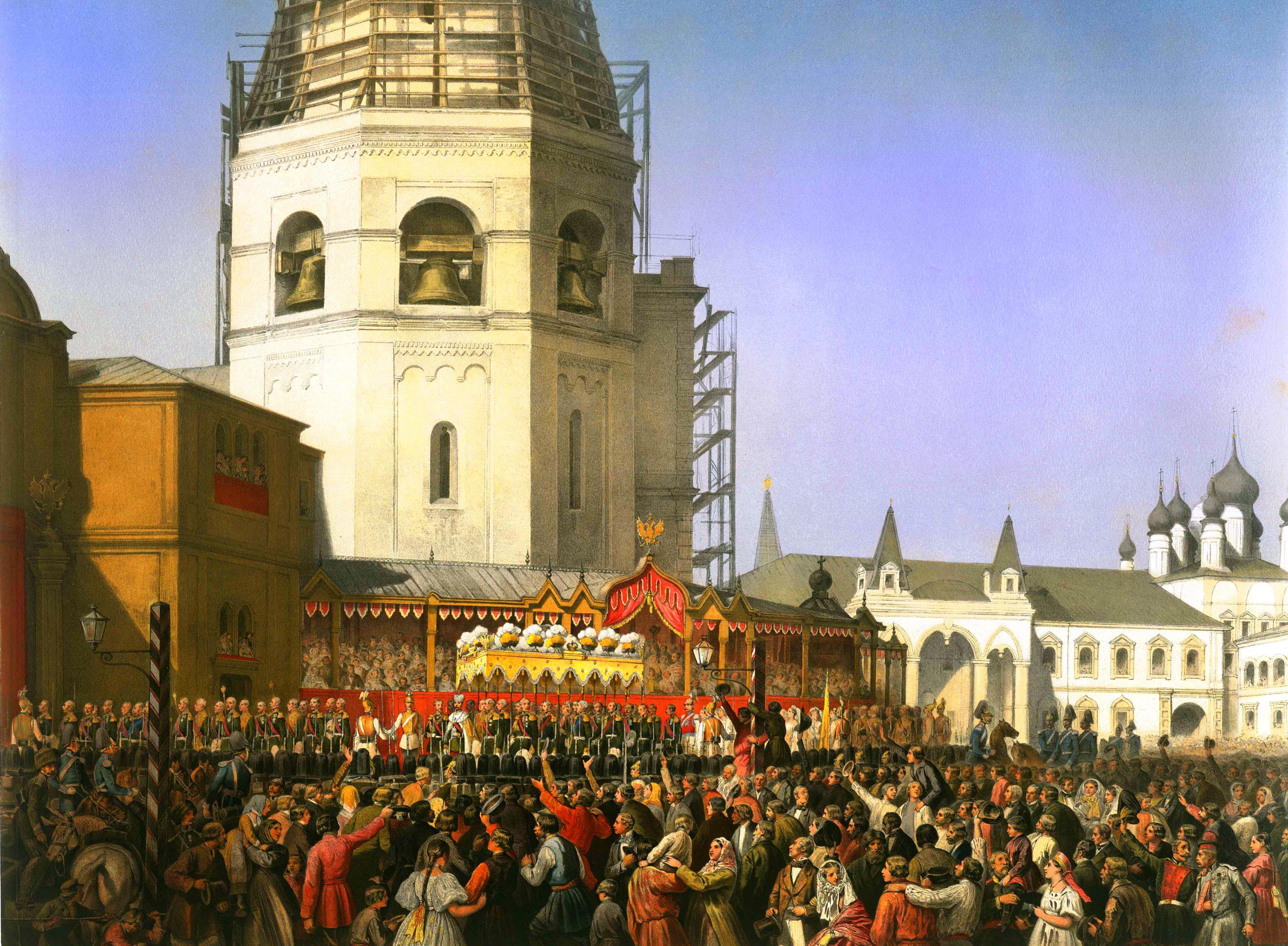 Сориель. Выход процессии из первой ограды Кремля