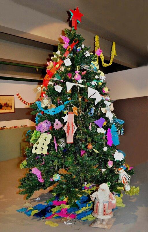 Стилизация советской новогодней елки