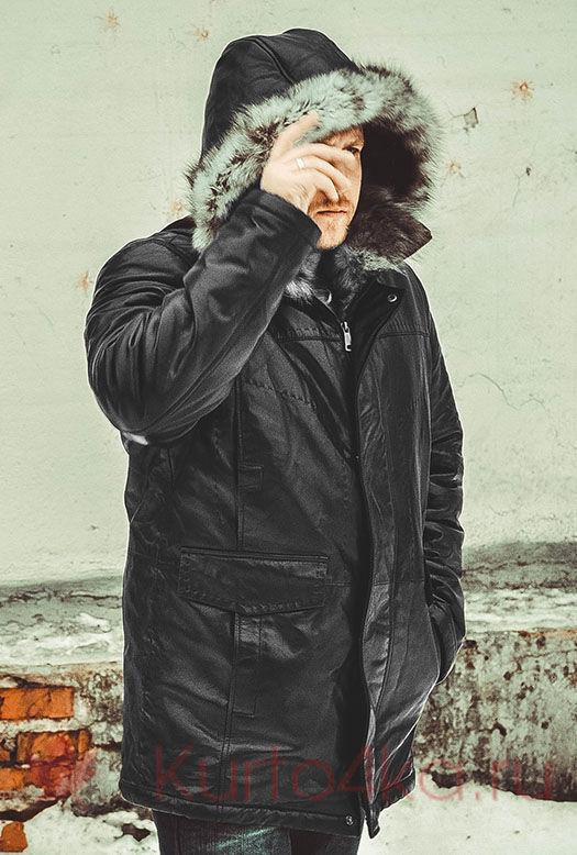 куртки кожаные Аляски с подкладкой из натурального меха