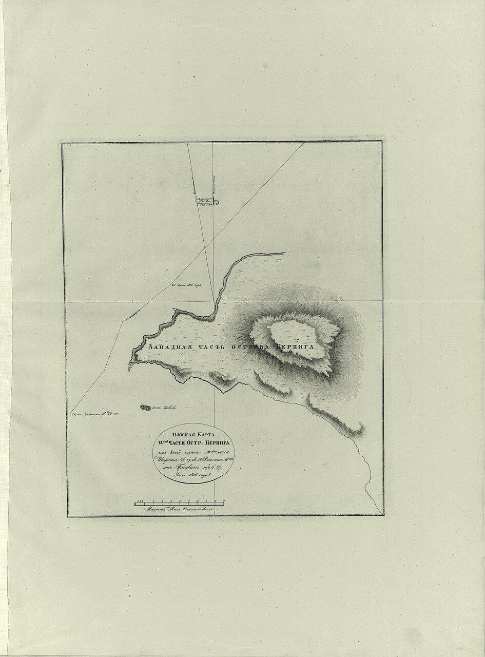 08. Плоская карта W-ной части острова Беринга