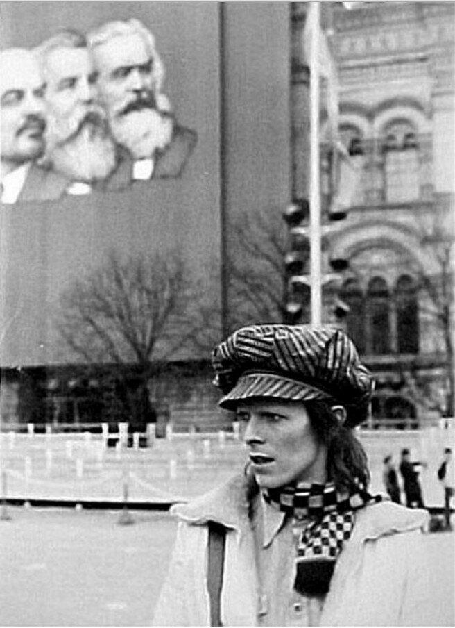 1973. Дэвид Боуи в Москве во время первомайских праздников