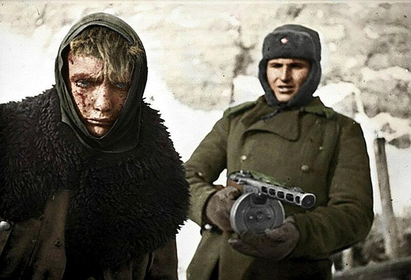 Пленённый немецкий солдат. Сталинградская битва. Фото январь 1943 года.jpg