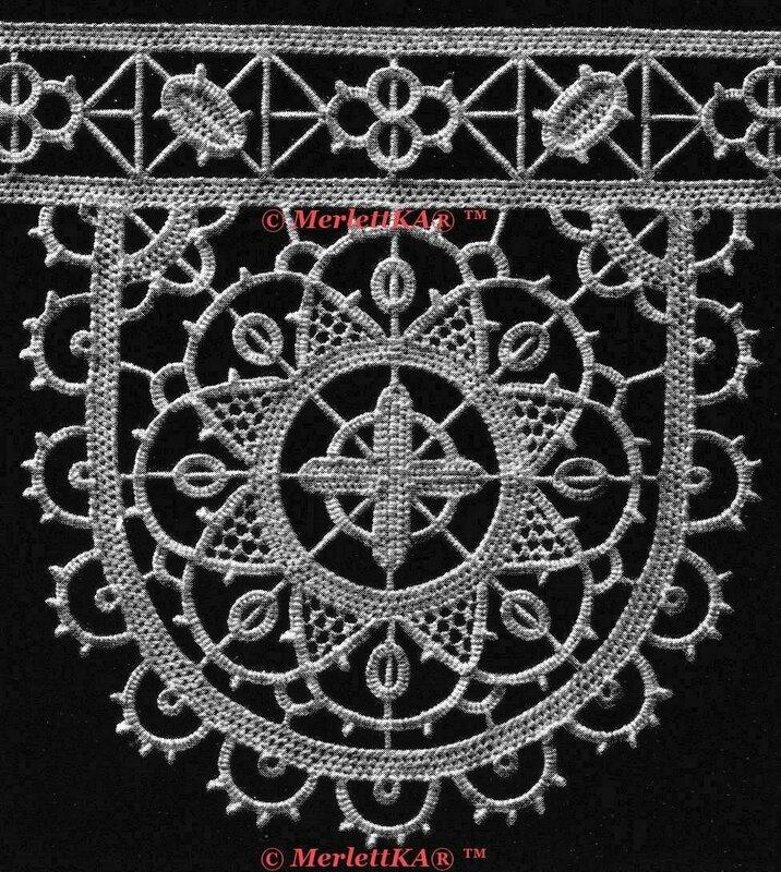 惊人的美丽的哥特式ретичелл?☆花边从1929年的经典书籍 - 枫林傲然 - .