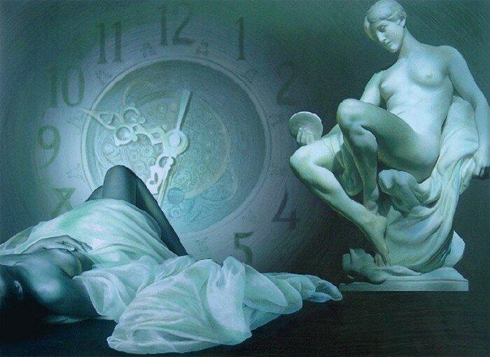 Red Dreams - Brita Seifert 1963 - Dutch Surrealist painter