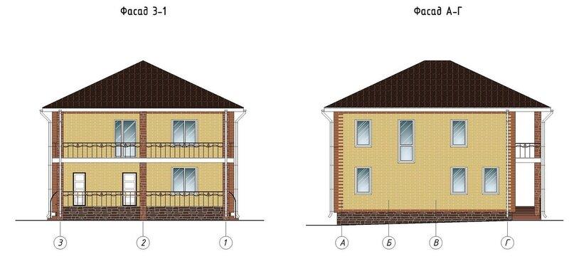 Фасады дома, внешний вид