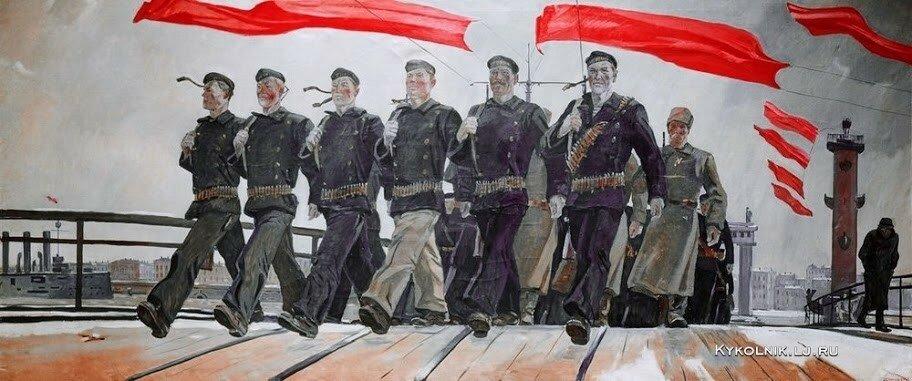 Дейнека Александр Александрович (Россия, 1899 - 1969) «Левый марш» 1941.
