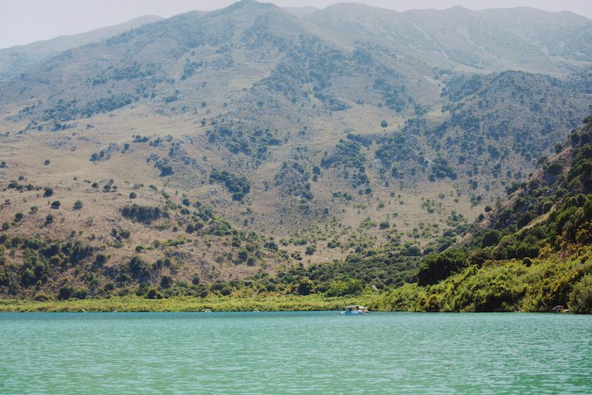 Kournas Lake crete