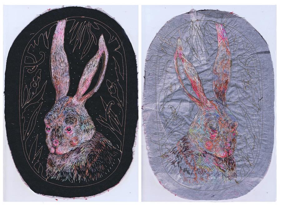 Lush Hand-Embroidered Portraits by Artist Lisa Smirnova