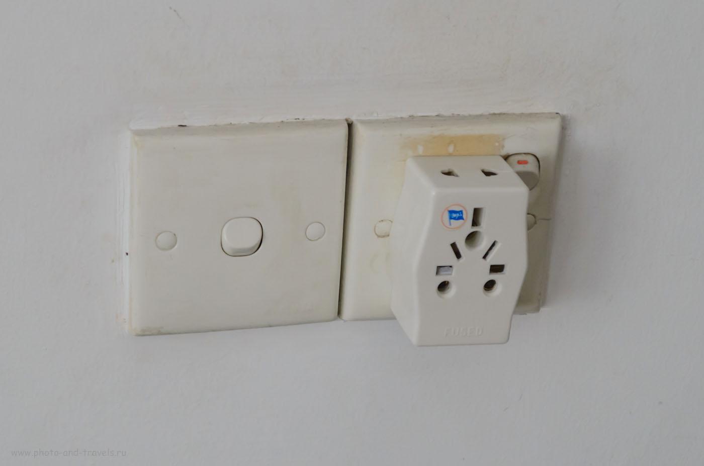 Фотография 8. Электрический переходник (адаптер) для розеток на Шри-Ланке. Чтобы отдых на прошел без проблем, придется его приобрести. Отчеты туристов о поездке на Цейлон в мае.