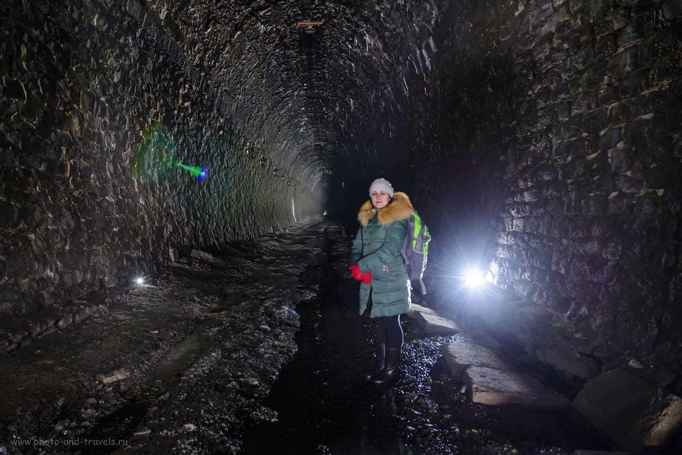 Фото 5. Как фотографировать в заброшенной шахте или в коллекторе. Дидинский тоннель в Первоуральском районе Свердловской области. Пеший поход выходного дня. 20 секунд, +0.67EV, 160, 24.