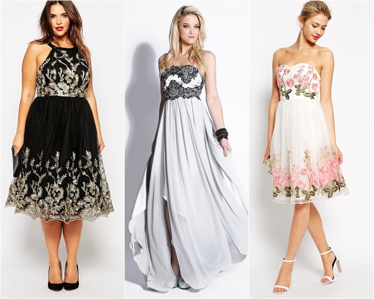 Платья с вышивкой на выпускной 2016