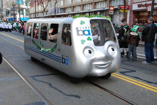 Авто в стиле поезда метро BART