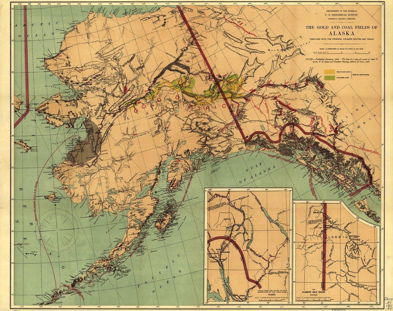 1897. Золотые и угольные месторождения Аляски