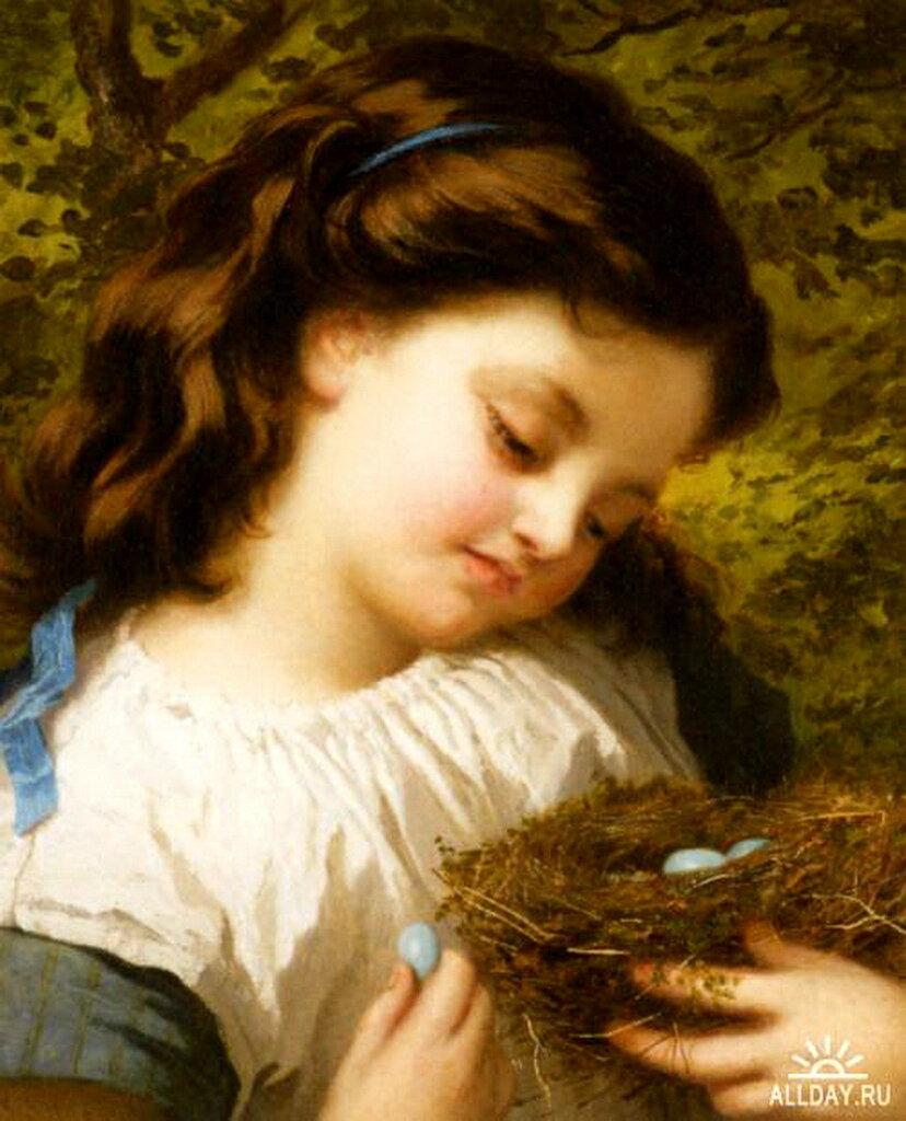 the birds nest oil on canvas_птичье гнёздышко_холст, масло