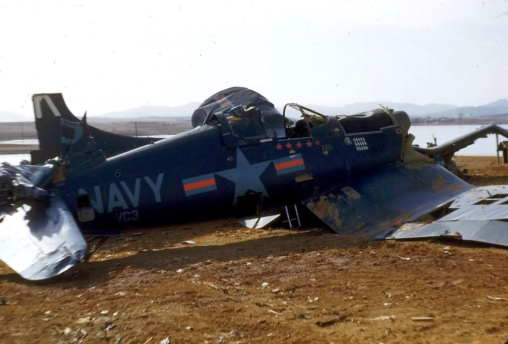 VC-3PilotLtGuyBordelonF4U-5CorsairandOtherWrecksK-6AirfieldLate1953-1.jpg