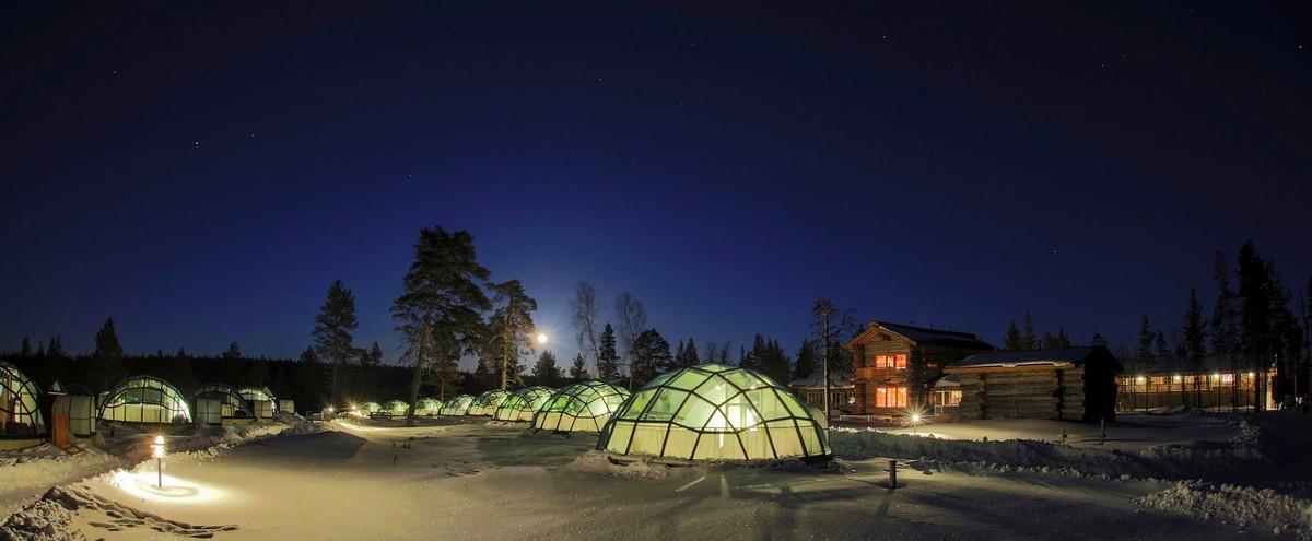 Поразительный финский отель Kakslauttanen