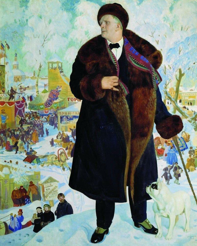 Борис Михайлович КустодиевПортрет Ф.И.Шаляпина [1922]