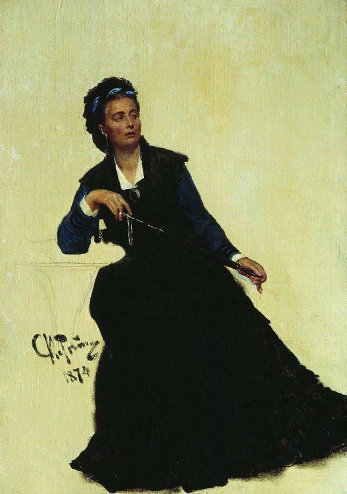 Дама, играющая зонтиком. 1874.jpg